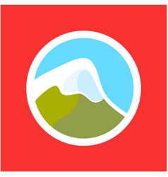 logo with swiss alps vector image