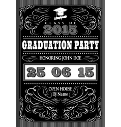 template for the posters to graduate party vector image