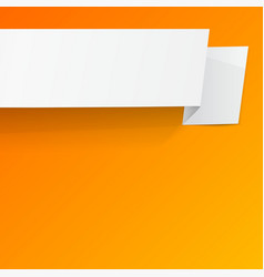 White sheet of paper on a orange background vector