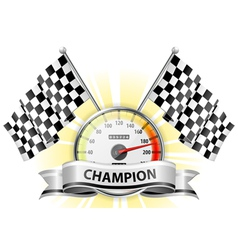 winner champion speedometer vector image