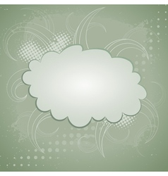 Abstract retro background with cloud vector image vector image