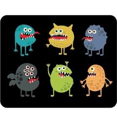 Cute monsters set vector image