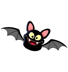 flying bat vector image vector image