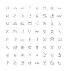 Icon ThinLine Web vector image vector image