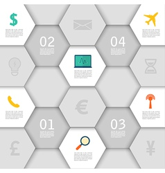 Infographic design with paper creative icons vector image