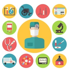 Medical icons set Healthcare infographic elements vector image