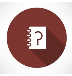notebook whith question vector image vector image