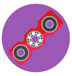 pink rectangular spinner with center bearing vector image