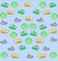 Potatoes cabbage cucumber garlic vector image