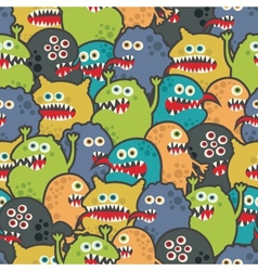 Cute monsters seamless texture vector image