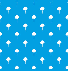 fluffy tree pattern seamless blue vector image vector image