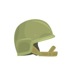 khaki military helmet metallic army symbol of vector image