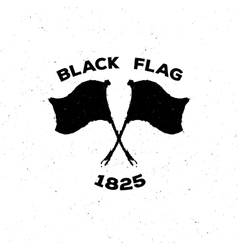 The black isolated logo or poster of a flag in vector image vector image