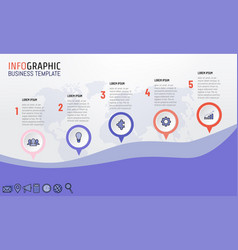 5 steps infographics for business presentation vector image