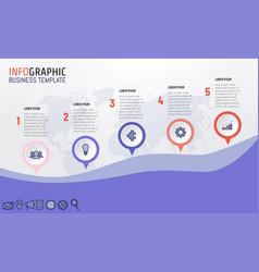 5 steps infographics for business presentation vector image