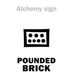 Alchemy pounded brick later cibratus vector