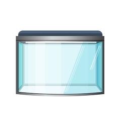 Aquarium isolated on white Fish tank vector