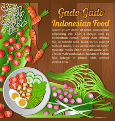 Asean national food ingredients elements set vector