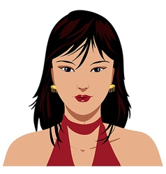 Asian woman face vector image