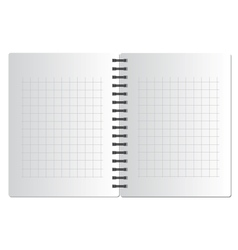 Background from notebook in square on the black vector image