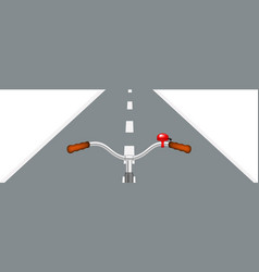 Bicycle handlebar and road vector