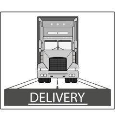 big heavy truck on road vector image