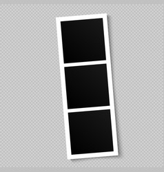 blank photo frame template for design vector image