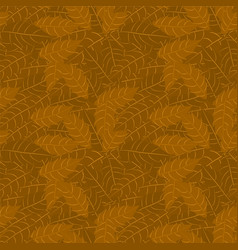 branch holly with leaves seamless pattern vector image