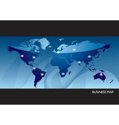Business blue world map vector