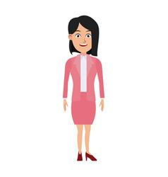 Business woman standing cartoon employee vector