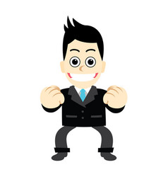 businessman with posture fight not discouraged vector image