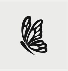 butterfly icon logo vector image