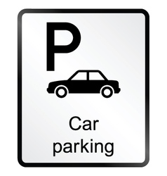 Car Parking Information Sign vector image