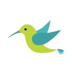 Colibri bird icon Cute cartoon character vector image