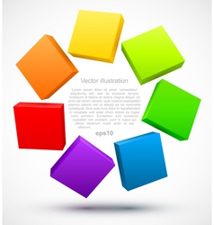 Colored plates 3D vector