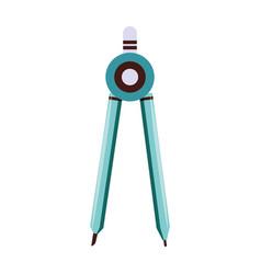 Compass geometric tool symbol isolated vector
