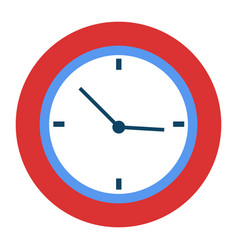 Curved clock with hands pointers time management vector
