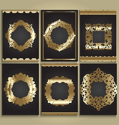 Decorative gold and black backgrounds vector