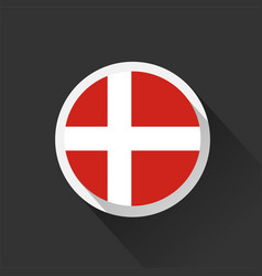 denmark national flag on dark background vector image