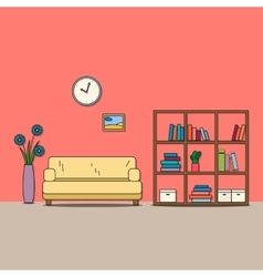 Design of room - sitting room vector image