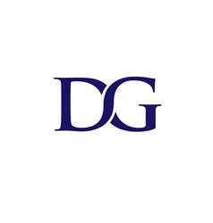Dg letter logo design template vector