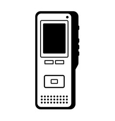dictaphone vector image