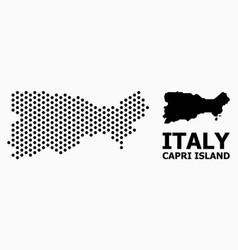 Dot mosaic map capri island vector
