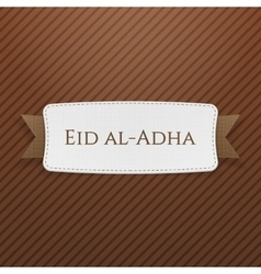 Eid al-Adha realistic festive Tag vector image