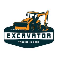 Excavator logo vector