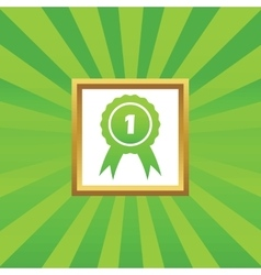 First place award picture icon vector