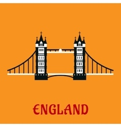 Flat icon of Tower Bridge in London vector image