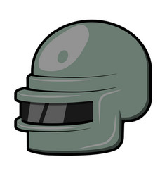 flate design games helmet in 10eps vector image