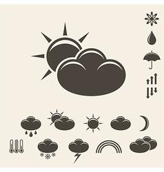 Forecast Icon set vector