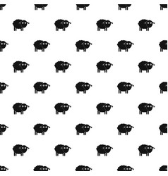 funny sheep pattern seamless vector image